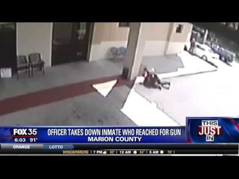 Inmate attempts to take deputy's gun