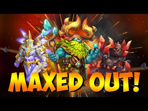 Wardens Lvl 48 Maxed Out GAMEPLAY! Castle Clash