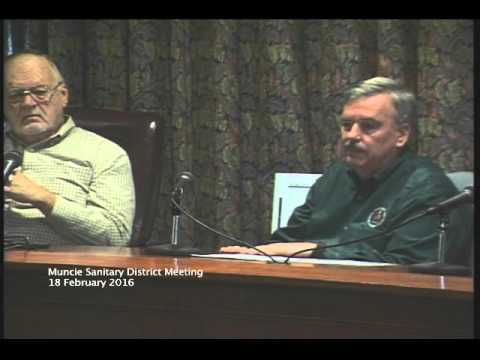 Muncie Sanitary District Meeting 18 February 2016