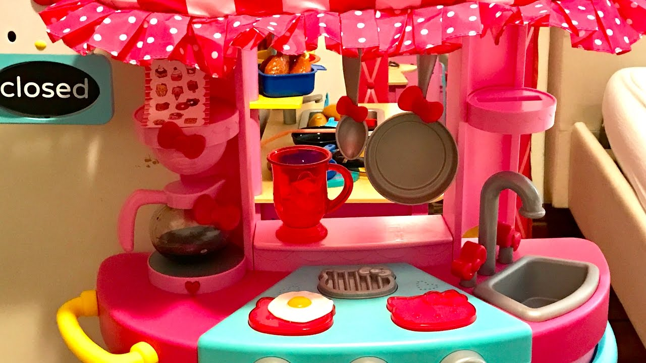 How To Build Hello Kitty Kitchen Cafe Playset Sanrio Toyfanatics Youtube
