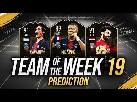 TOTW PAZZESCO con SALAH 91, MBAPPÉ 89 & CAVANI 91!!! TOTW 19 PREDICTIONS FIFA 19 [FUT 19 ITA]