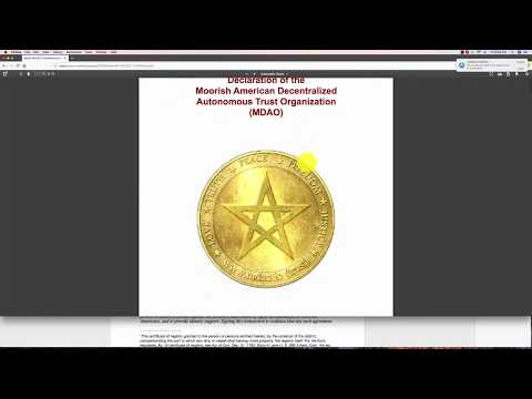 Moorish American Blockchain, Registry, and Crypto Currency. Entire project overview