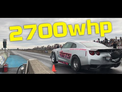 Watch This 2700-Horsepower Nissan GT-R Nearly Rip Apart a Dyno