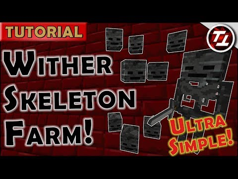 Wither Skeleton Farm! Ultra-Simple, Cheap...