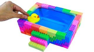 키네틱샌드로 수영장과 오리 만들기 / 창조적 인 모래