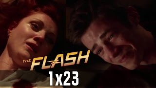 The Flash 1x23 - Barry Runs Back In Time To Save His Mother but future Barry Stops Him