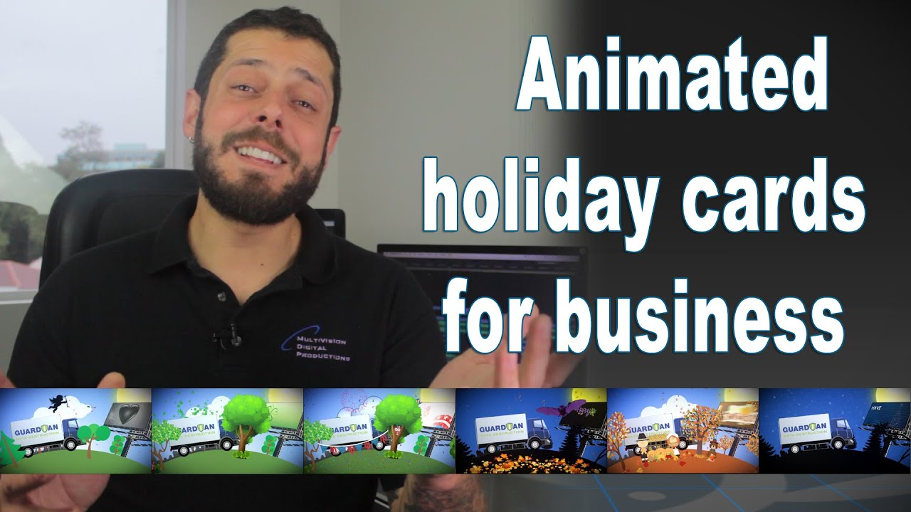 Animated video holiday cards for business communications ...