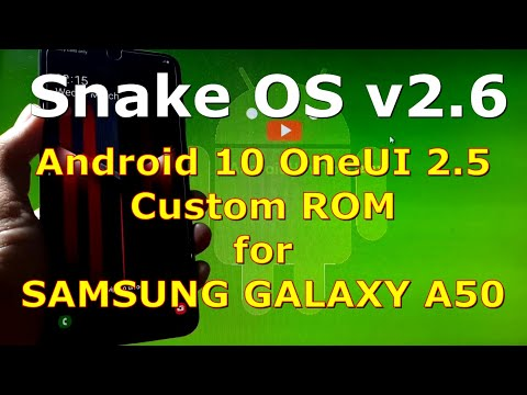 Snake OS v2.6 for Samsung Galaxy A50 Android 10 Custom ROM