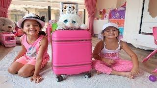 Elif Öykü ve Masal Pembe Tatil Valizini Hazırlıyor! Pink Holiday Bag