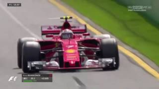 kimi raikkonen s full lap in p1 australia    f1 ferrari 2017 hd