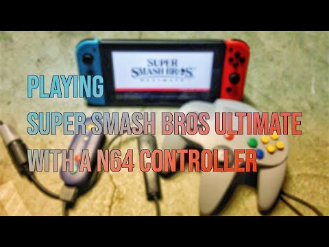 The N64 controller works to play Super Smash Bros Ultimate
