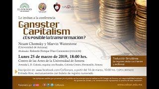Dra América Lutz sobre Conferencia Gangster Capitalism
