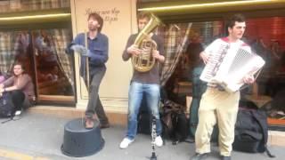 Street Musicians in Montmartre Paris near Sacre Coeur Thumbnail