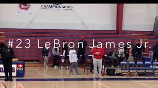 #23 LeBron James jr. IS TOO ADVANCED FOR THESE KIDS!