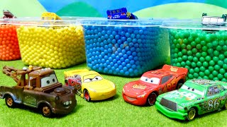 Cars Disney toy Animated color beads changed to the same color! Lightning · McQueen for children