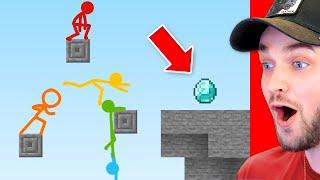 World's *BEST* PARKOUR Minecraft Stick Fight Animation! (MUST SEE)