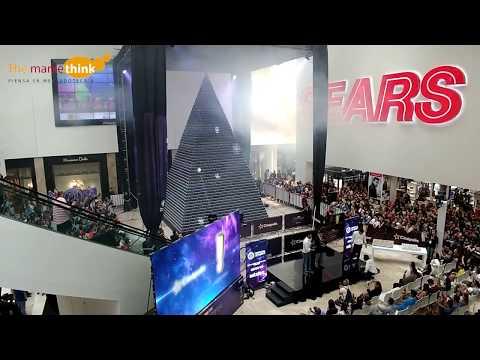 Ping  y Cinépolis presentan la torre de vasos promocionales más grande del mindo