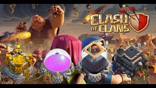 BASE REVIEWS/ TOWN HALL 9 FARMING   Clash of Clans Big Account Live