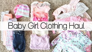 HUGE BABY GIRL CLOTHING HAUL 2018 |EMILY CARMONA