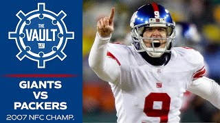 Re-live the Giants EPIC 2007 Upset Win vs. Packers   Giants Packers Rivalry
