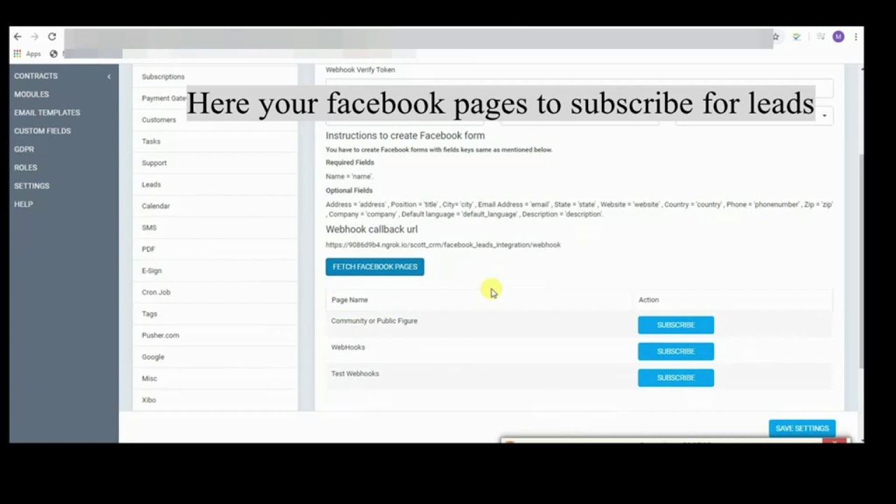 Facebook Leads Module for Perfex CRM