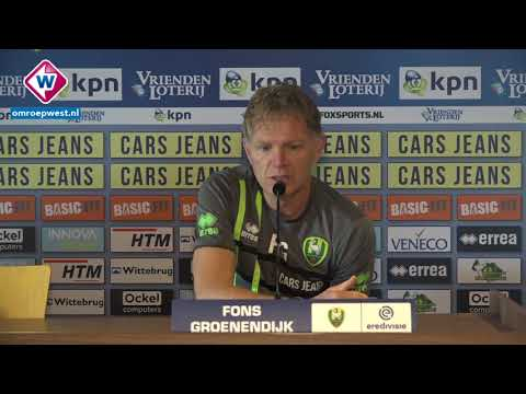 ADO-trainer Fons Groenendijk blikt vooruit op PEC Zwolle - ADO Den Haag