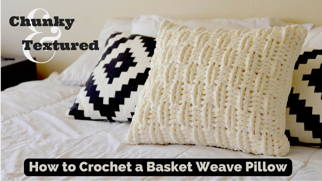 How to Crochet a Textured and Chunky Basket Weave Throw