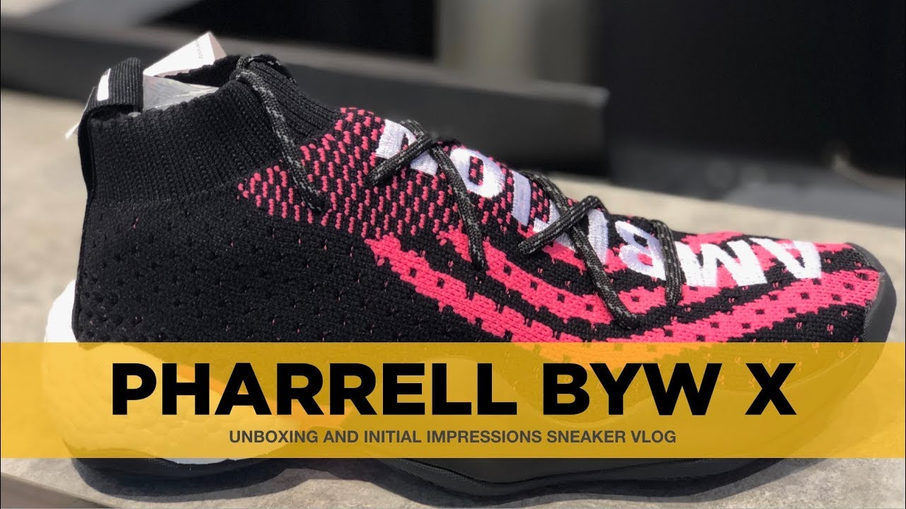 wholesale dealer 14d7c 7f9d7 UNBOXING PHARRELL CRAZY BYW LVL X (FIRST ON YOUTUBE)  BOOST YOU WEAR LVL  X