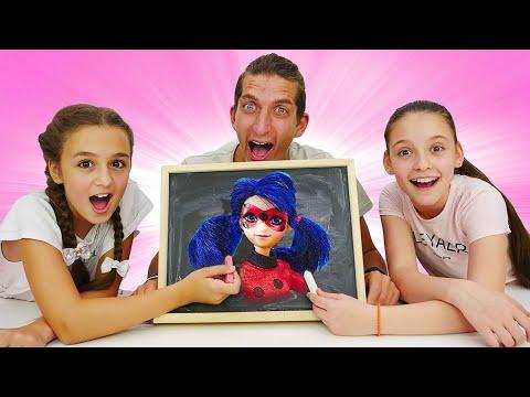 Смешные видео – Леди Баг в Челлендже Нарисуй и Отгадай! – Онлайн игры для детей.