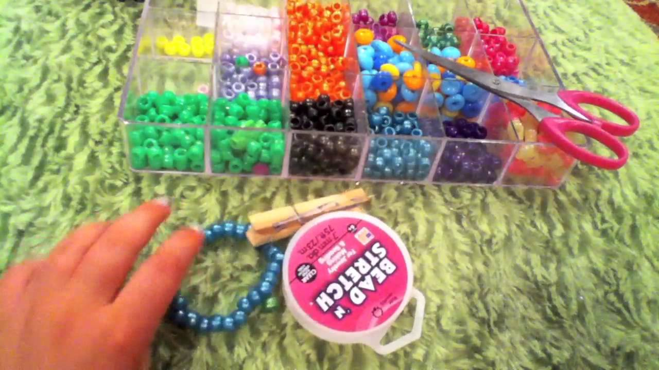 How To Make A Kandi Pony Bead Multi Cuff Youtube