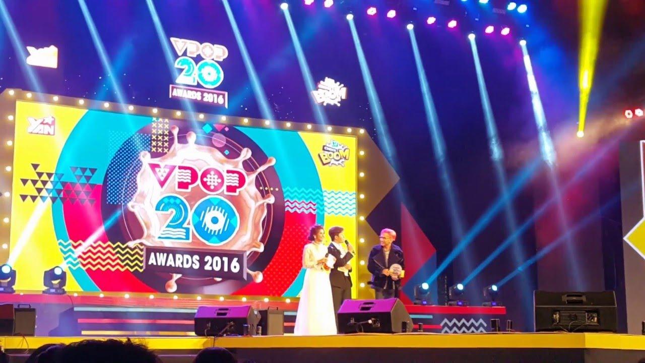 Lou Hoàng nhận giải Ca Sĩ  Triển Vọng YAN VPOP AWARD 2016