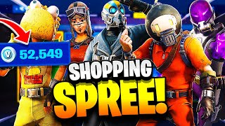 I bought EVERY SKIN in FORTNITE & this happened... (Fortnite SHOPPING SPREE)