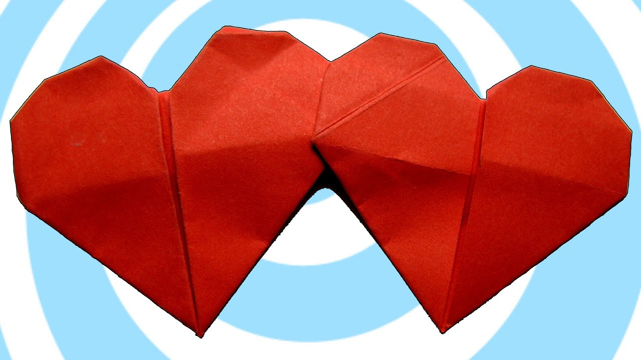 origami double heart ��� instructions francis ow funnycattv