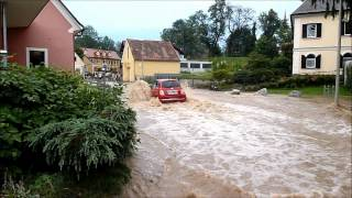 25.7.2012 Hochwasser Graz St.Peter (Schimautzkreutzung)