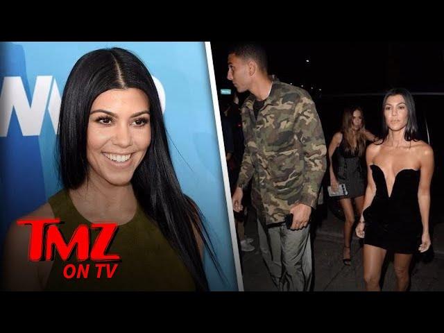 Kourtney Kardashian Steps Out With Younes Bendjima In A Little Black Dress | TMZ TV