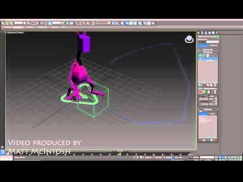 3D Studio Max tutorial - Follow A Spline