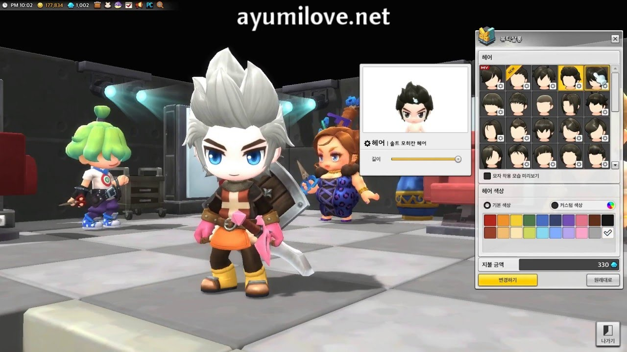 ayumilove maplestory2 male hairstyle (44 styles x 20 colors) - youtube