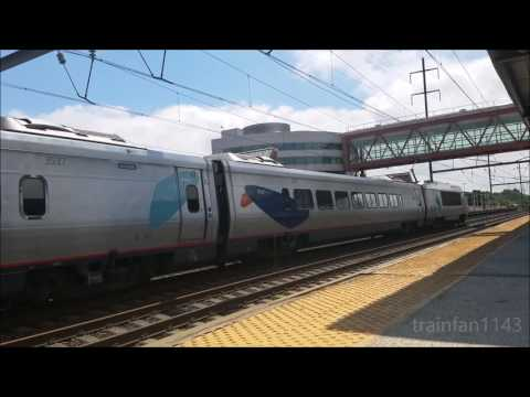 Amtrak and NJT at Hamilton Station 7/25/17