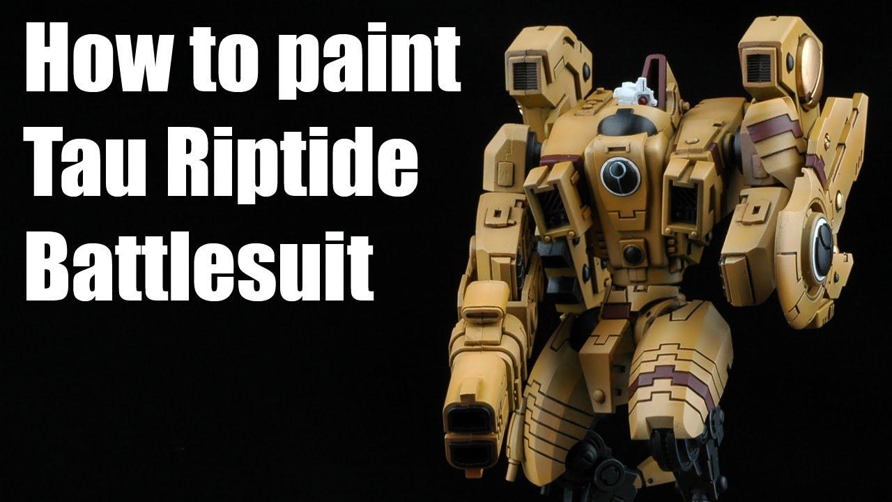 How to paint a Tau Riptide Battlesuit?
