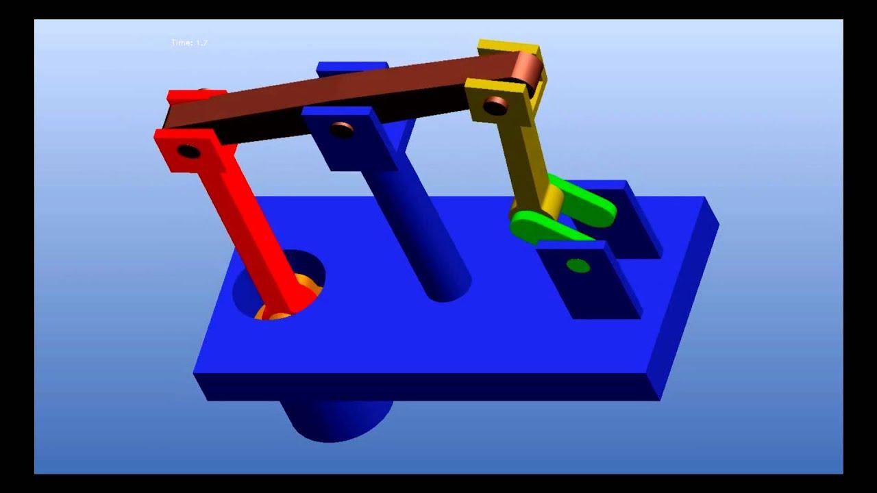 Beam Engine Model Animation In Pro E Youtube