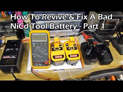 video 9.6 12 14.4 24 Firestorm FIX your BLACK /& DECKER battery REVIVE-IT guide