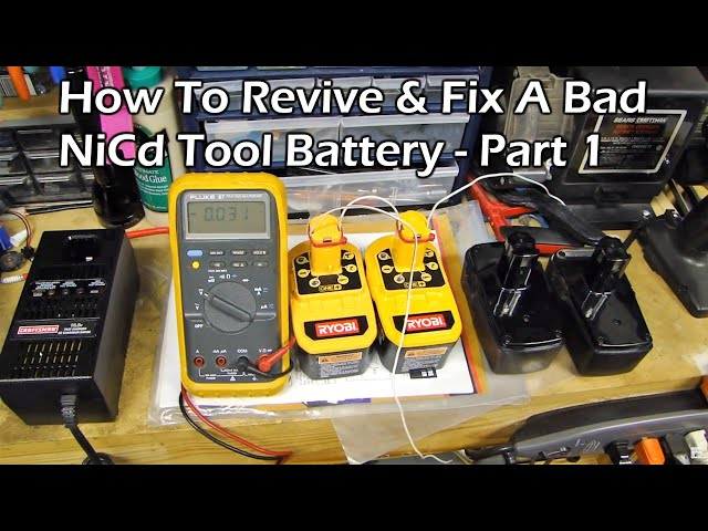 How To Revive & Fix a Bad NiCd Rechargeable Tool Battery - Part 1