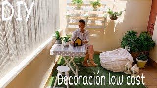 DIY Como DECORAR EL BALCÓN, patio o terraza fácil y low cost /Decoración verano 2019 # AD