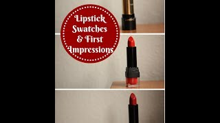 Lipstick Swatches/First Impressions: City Color, Lancome Thumbnail