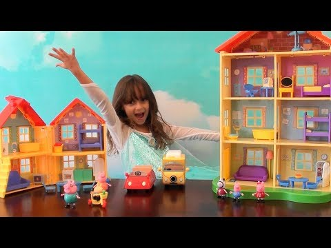Peppa Pig: Peppa Pig Story: Peppa Pig Happy Family NEW House, Peppa Pig Toy Set: Peppa Pig Show