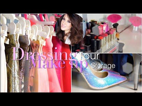 ROOM TOUR || Dressing tour & rangement make-up