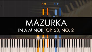 Frédéric Chopin - Mazurka in A Minor, Op. 68, No. 2 (Synthesia)