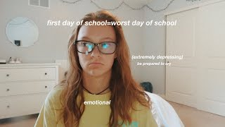 the first day of school.