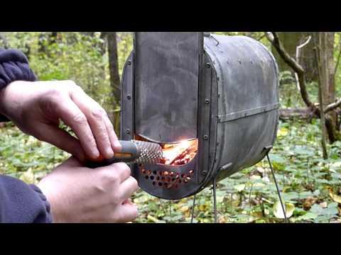 Походная печка Рдейка. Tent Wood Stove Rdeika.