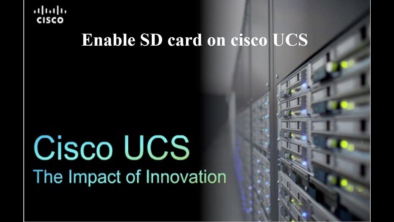 Enable SD or FlexFlash card on CISCO UCS Server